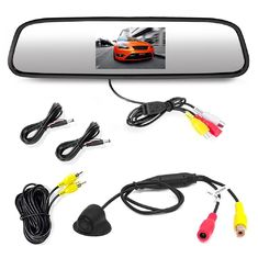 Automobile Rear View Mirror Monitor With Backup Camera 800*RGB*480 Pixel Number